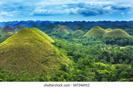 Chocolate hills in Bohol island,Philippines
