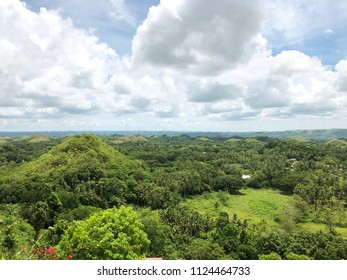 Chocolate Hills Bohol Philippines Island Beautiful Nature Background