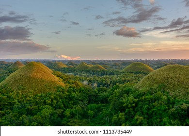Chocolate Hills in the Philippines. Bohol island