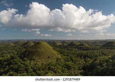 Chocolate hills. Unique truffle shaped geological formations is the main attraction of Bohol island, Philippines