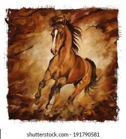 Chocolate Horse Torn Edges