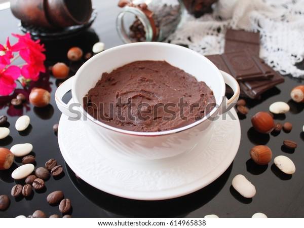 Chocolate hummus, dessert