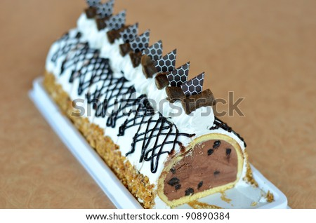 Chocolate Ice Cream Cake Beautiful Decorated Stock Photo Edit Now
