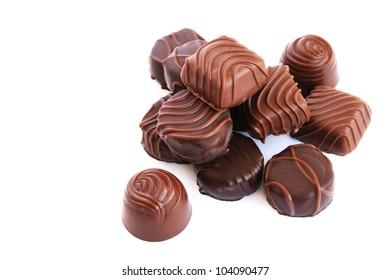 Chocolate  isolated on white background.