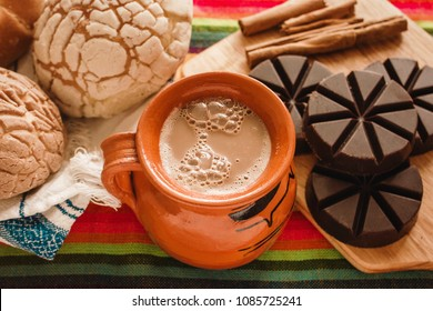 chocolate mexicano, cup of mexican chocolate from oaxaca mexico