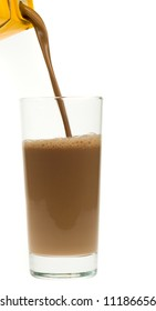 chocolate milk isolated on a white background