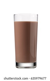 Chocolate milk or mocha isolated on white