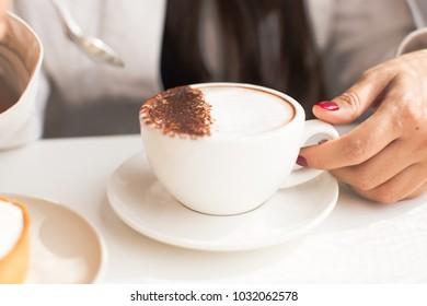 Chocolate milk on a glass