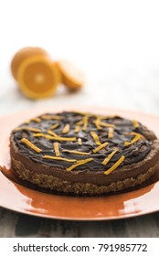 Chocolate and orange vegan cake