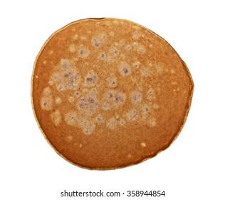 Chocolate pancake isolated on white background