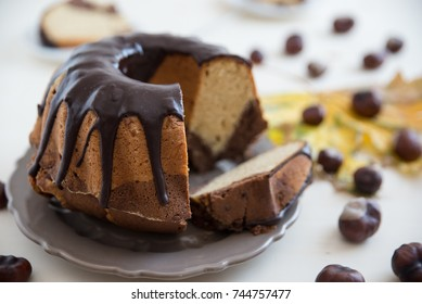chocolate peanut butter sponge cake
