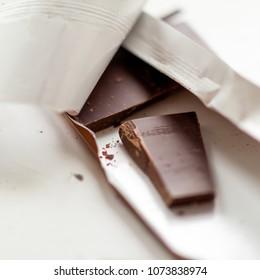 chocolate plate closeup