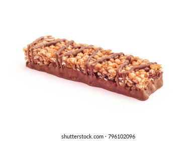 chocolate protein bar studio isolatedp
