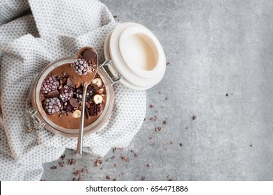 Chocolate Protein Smoothie Bowl (Jar)