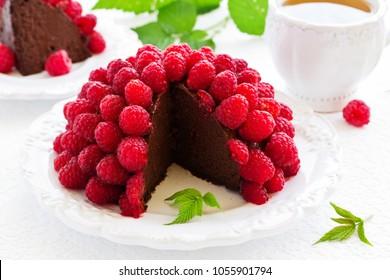 "Chocolate raspberry mousse cake ""Framboise""."