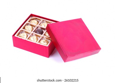 Chocolate in Red Gift Box