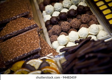 A chocolate shop in Brugge, known as the world's chocolate capital