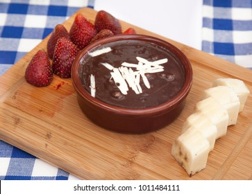 Chocolate Souffle with Fruits