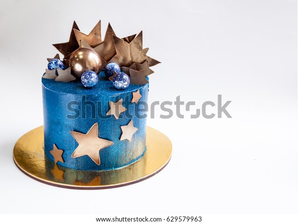 Pleasant Chocolate Stars Cake Layered Birthday Cake Stock Photo Edit Now Birthday Cards Printable Nowaargucafe Filternl