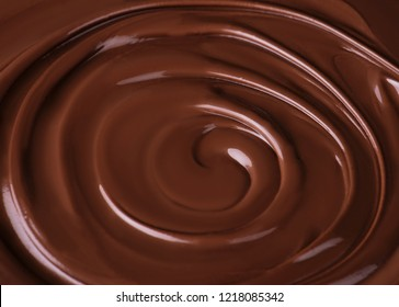 Chocolate swirl close up