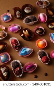 Chocolate and truffles bonbons collection