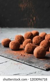 chocolate truffles, homemade