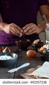 chocolate, vanilla and Coconut Muffins just facts about a kitchen rustic