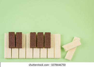Chocolate wafer piano for sweet music