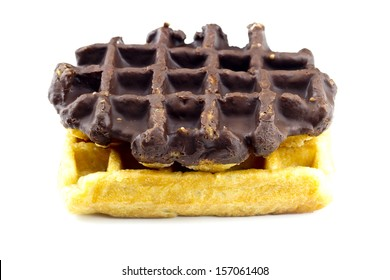 Chocolate Waffle on a white background
