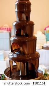 Chocolate wedding fountain.
