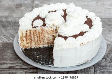 Chocolate and Whiped Cream Cake