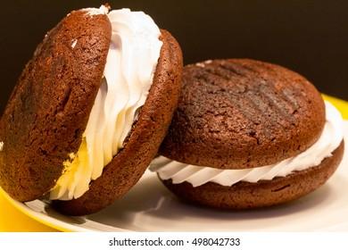 Chocolate Whoopie Pie is a favorite PA Dutch food treat.