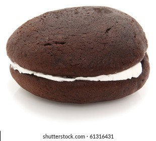 Chocolate Whoopie Pie Shot On White Background