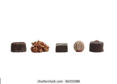 Chocolated isolated in white background