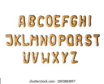 Chocolates alphabet blocks with letters.