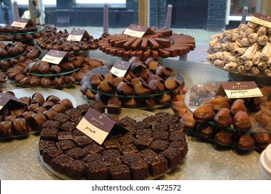 chocolates in a chocolate shop