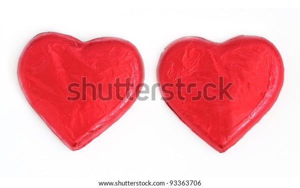 chocolates, Heart shape, isolate on white background