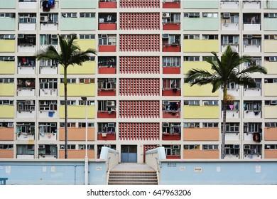 Choi Hung, colorful building in hong Kong