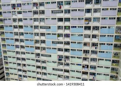 Choi Hung, Hong Kong 16 May 2019: Top view of Choi Hung Estate
