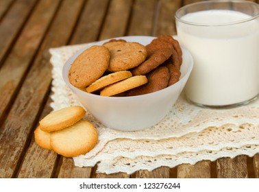 choice of  butter cookies in box  isolated on white background