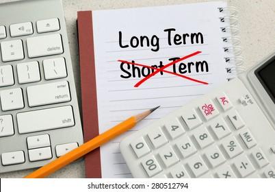 Choice of long term decision versus short term decision