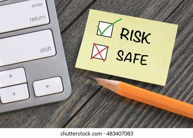 choice of risk versus safe decision