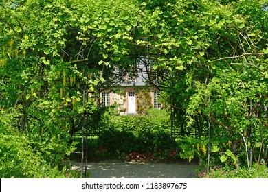 Choisel, France - may 6 2018 : the Breteuil castle park