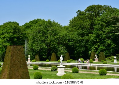 Choisel, France - may 6 2018 : the Breteuil castle park