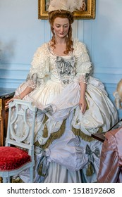 CHOISEL, FRANCE - SEPTEMBER 23, 2019. Marie Antoinette, model in wax made by the Grévin Museum for an order of the castle of Breteuil.