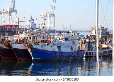 Chokka fishing boats