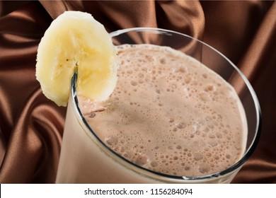 Chokolate Milkshakes on chocolate textile