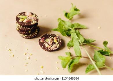 Chokolate sweets background