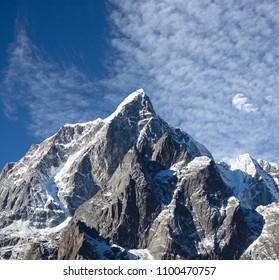 Cholatse mount in Sagarmatha National park, Nepal Himalayas