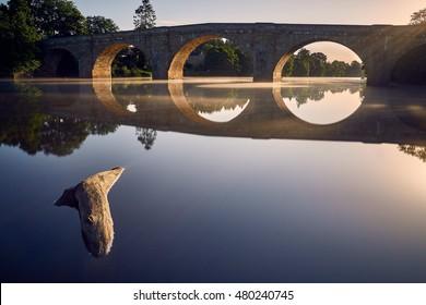 Chollorford Bridge near Hadrian's Wall, Morning time